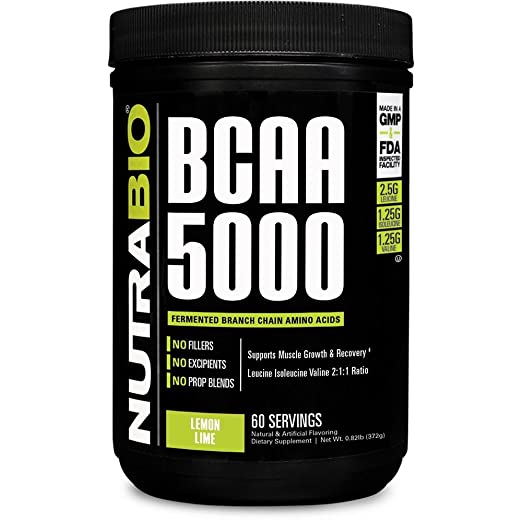 NutraBio BCAA 5000 Powder - 60 Servings (Lemon Lime) best bcaa powder