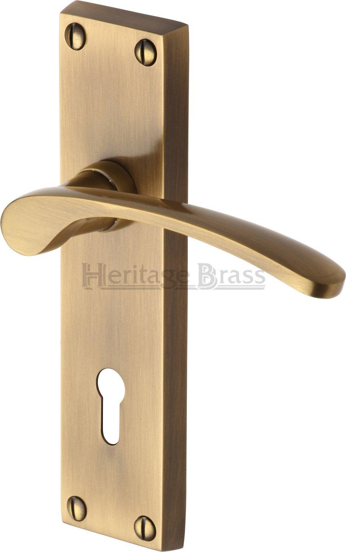 Sophia Lever Lock Heritage Brass