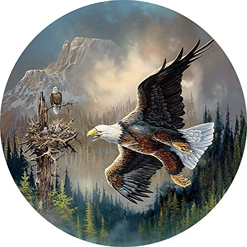 Bits and Pieces - 1000 Piece Round Puzzle - Guarding the Nest, Bald Eagle - by Artist Ted Blaylock - 1000 pc Jigsaw