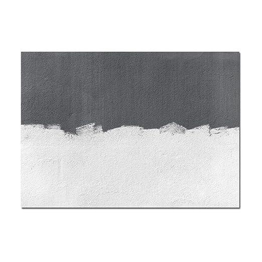 Cuadro de arte de lienzo indirecto gris Dormitorio nórdico ...