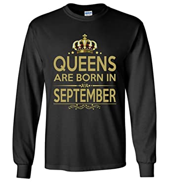 0ea47eb15 Amazon.com: Best Gift Birthday Queens are Born in September Long ...