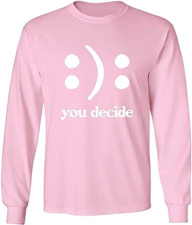 zerogravitee You Decide Smile Frown Adult Hooded Sweatshirt