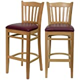 Modern Style Wood Dining Bar Height Chairs