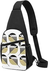 PGTry Nine Chickadees - Mochila bandolera ligera para llevar al hombro, mochila cruzada, bolsa de viaje, senderismo, para hombres y mujeres