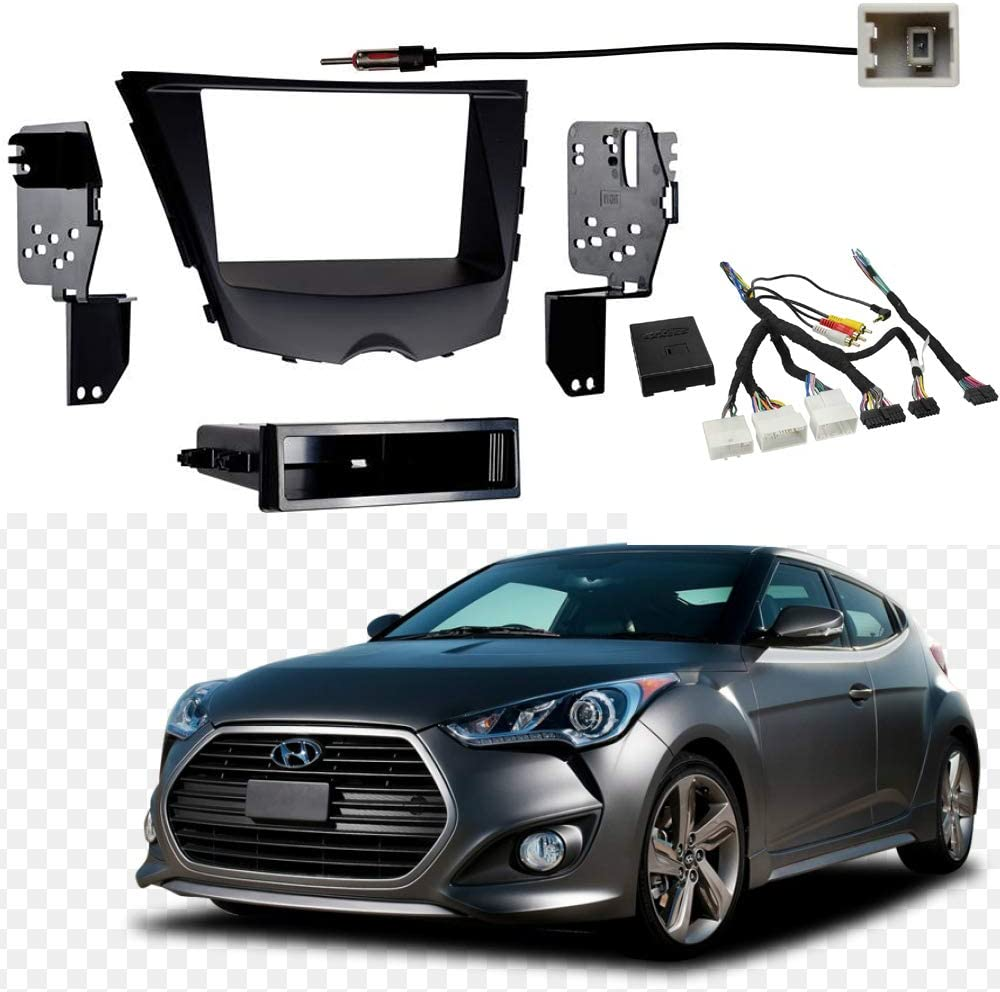 Metra 99-7350B 2012-Up Hyundai Veloster ISO Single//Double DIN Installation Kit with Pocket