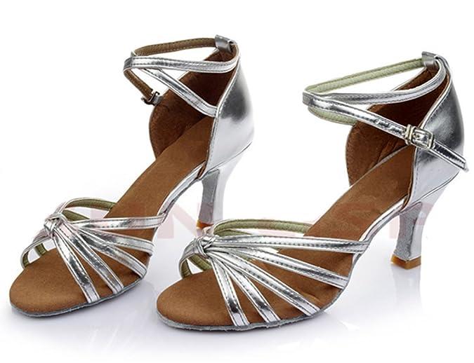 Damen Standard Tanzschuhe Ballsaal Latein Tango Rumba Samba Cowboy  Stierkampf Tanzschuhe mit Absatz: Amazon.de: Schuhe & Handtaschen