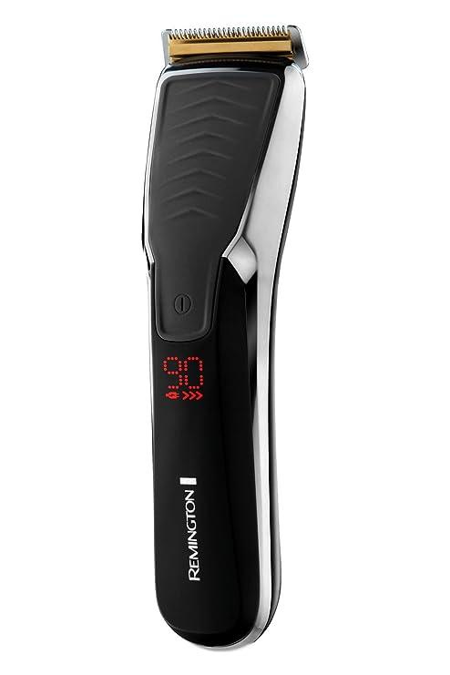 Remington HC7170 Motor Pro Power Titanium Ultra - Cortapelos inalámbrico, cuchillas AcuAngle, peines ajustables
