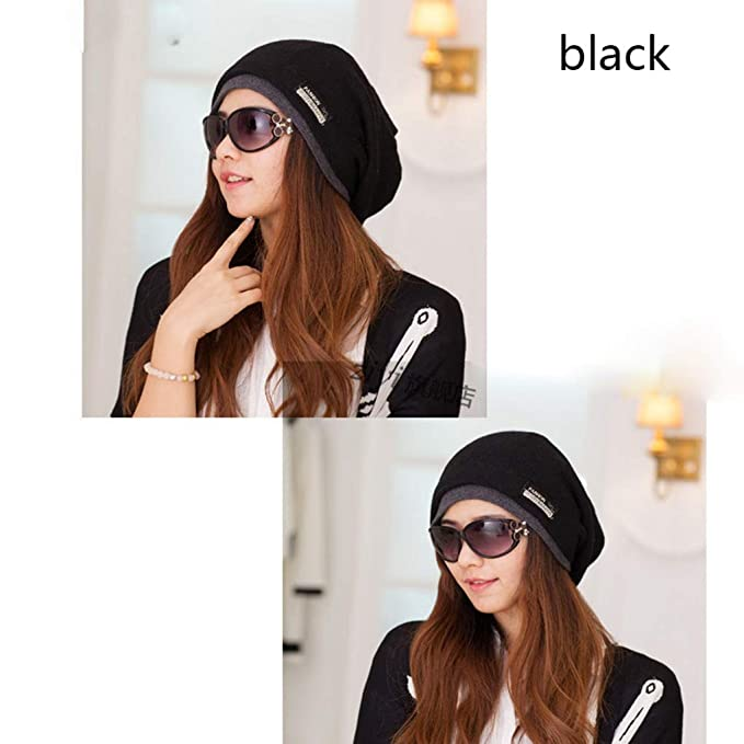 b9032d4db60 Image Unavailable. Image not available for. Color  RXIN Fashion Femme  Autumn Scarf Winter Hat Warm Caps Winter Hats for Women Girls Knitted Lady