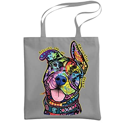 - RESCUES - pitbull breed Dean Russo - Heavy Duty Tote Bag