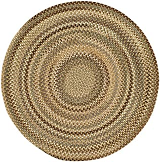 """product image for Capel Rugs Manchester Beige Hues 15"""" Chairpad Round Braided Rug"""