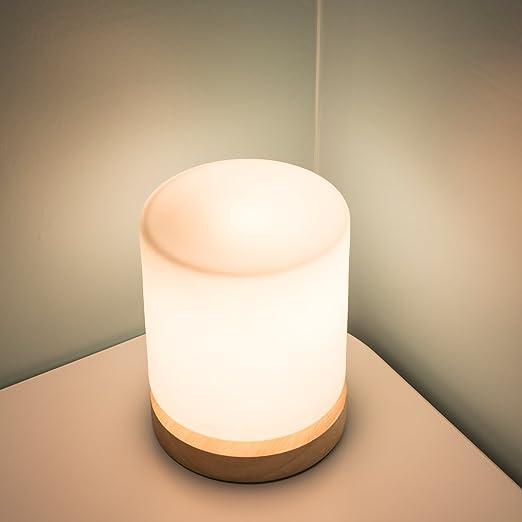 RUXMY Pequeña Lámpara De Mesa Moderna Minimalista De Cristal De ...