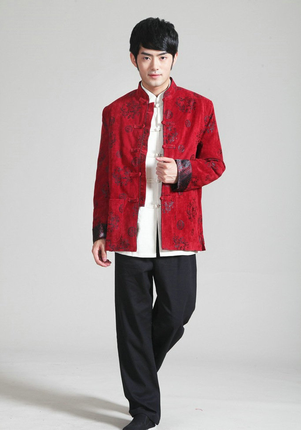 Wool Tang Suits Retro Jackets cotton-padded jacket Business Jackets Full Dress by Winter Tang Suit (Image #5)