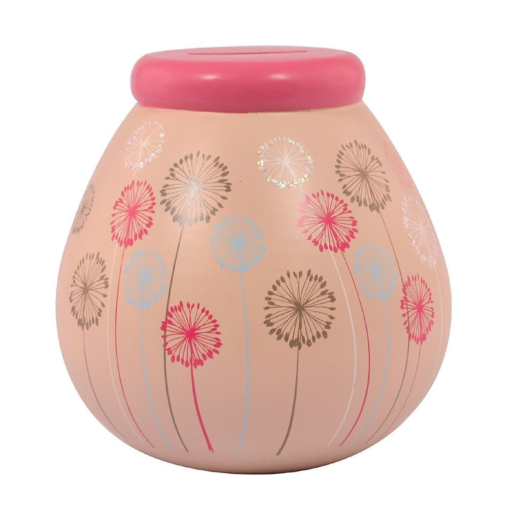 Dandelion Pots of Dreams Money Pot Save Up & Smash Money Box Gift Pot of Dreams