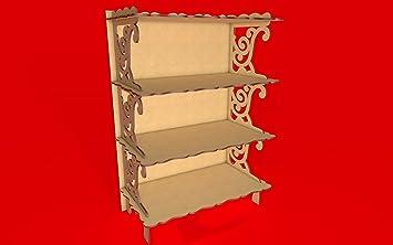 Kit para hacer estantería de madera DM para candy bar mesa dulce, decoración de fiestas. Medidas: 68cm alto x 49cm ancho x 26cm de fondo: Amazon.es: Hogar