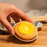 20 Sets Egg Tart Tins - Mold Baking Cups, Mini