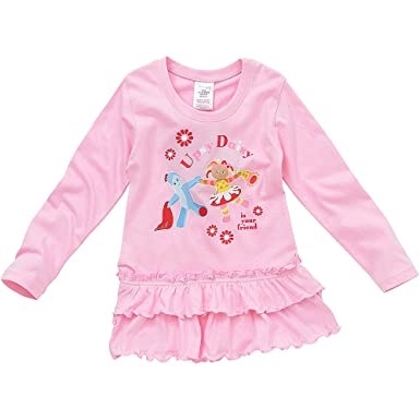 e98cfb537 In The Night Garden Upsy Daisy Girls Long Sleeve Dress - Pale Pink ...