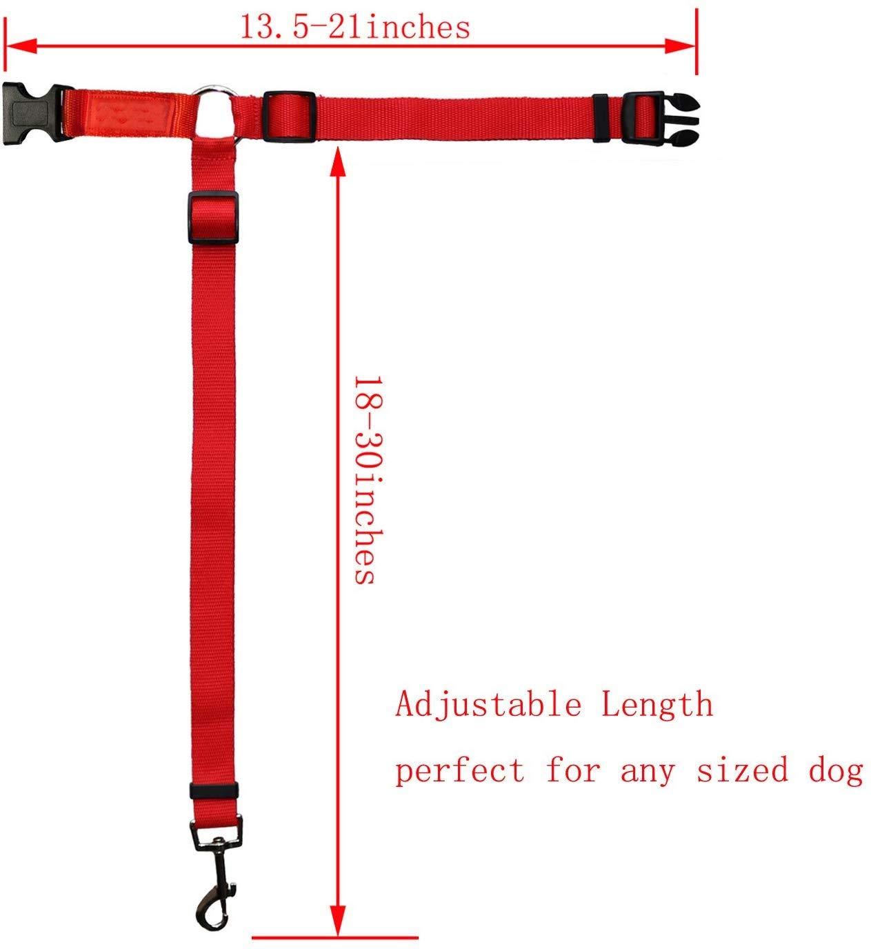 Dog Cat Safety Seat Belt Strap 2 Pack Doggy Car Headrest Restraint Easy Vehicle Travel with Pet Black Durable Zipline /& Tether Backseat for Traveling Adjustable Nylon Fabric Harness for Dog