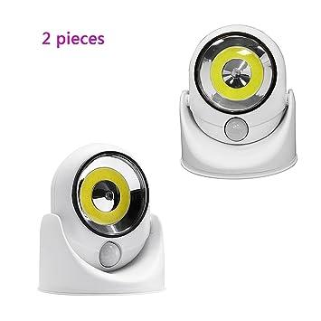 GZD La Luz LED Del Sensor De Movimiento Inalámbrico, Lámpara De La Noche Gira 360