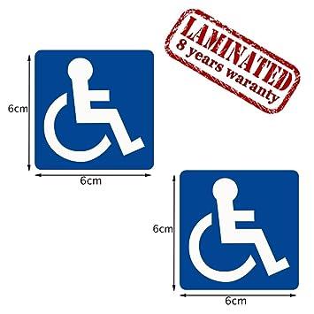 2 Stück Vinyl Aufkleber Autoaufkleber Behindert Symbol Rollstuhlfahrer Rollstuhl Stickers Auto Moto Motorrad Fahrrad Fenster Tür Tuning B 1
