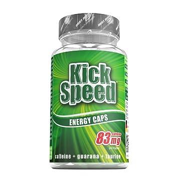 Kick Speed Energy Caps, Koffein, Guarana, Taurin, 60 St. Dose, 1er Pack (1 x 47.61 g)