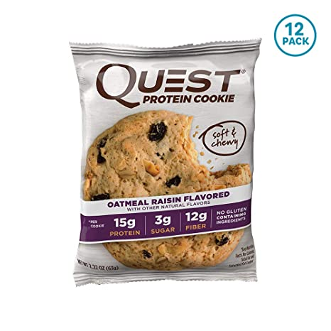 Quest Nutrition Protein Cookie Oatmeal Raisin - 12 Barras