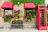 italian backdrop - OFILA Colorful Flowers Backdrop 7x5ft Outside Photography Background Telephone Booth Bench Italian Town Photos Green Ivy Honeymoon Trip Leisure Party Date Street Style Shoots Video Studio Props