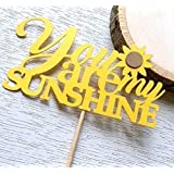 you are my sunshine cupcake toppers sunflower baby shower sunflower decor sunflower bridal