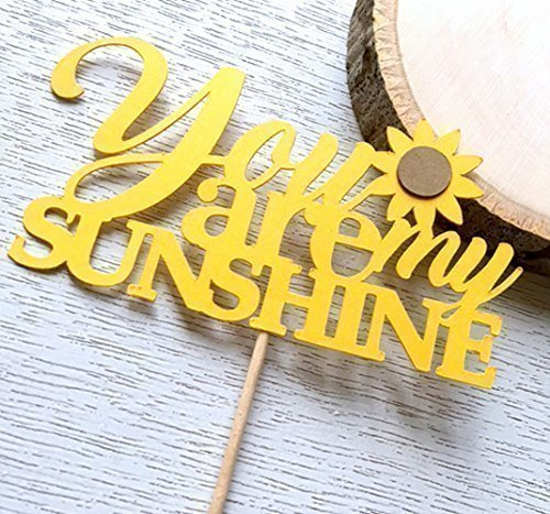 Rectangular Cake Pick - You Are My Sunshine Cupcake Toppers, Sunflower Baby Shower, Sunflower Decor, Sunflower Bridal Shower, Table Decor, Sunflower Wedding. Twelve (12)
