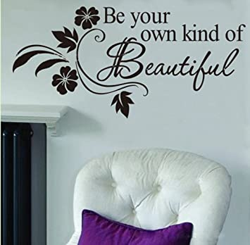 Charmant Picniva Be Your Own Kind Of Beautiful Decals Flower Vine Wall Sticker, 11u0027u0027