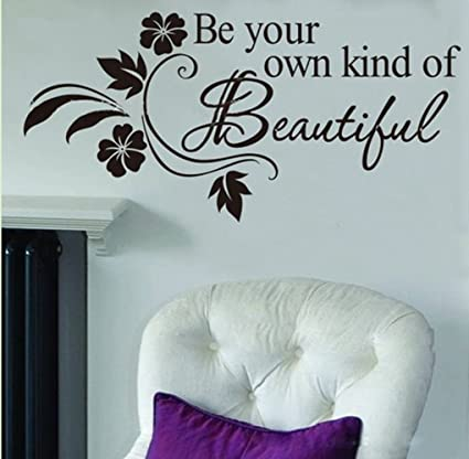 Picniva be your own kind of beautiful decals flower vine wall sticker 11