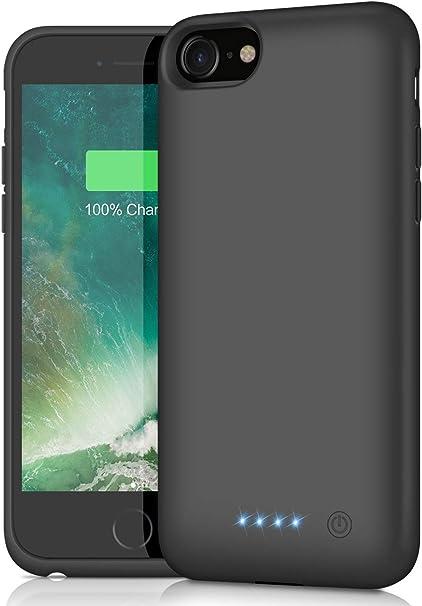 AOPAWA Cover Batteria per iPhone 6/6s/7/8, [6000mAh] Ricaricabile Custodia Batteria per iPhone 8/7/6S/6 [4.7''] Cover Caricabatterie Esterna Portatile ...