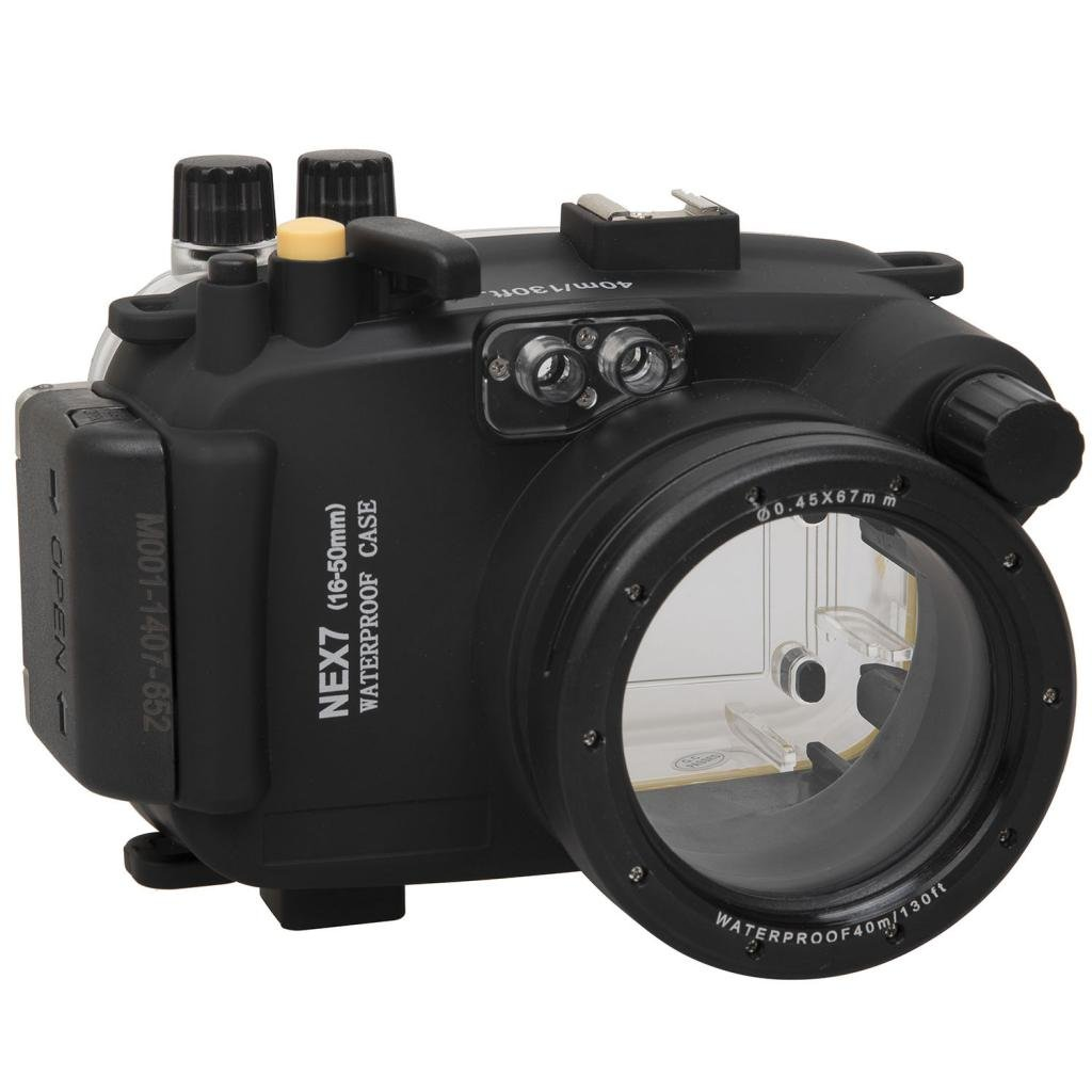 Polaroid SLR Dive Rated Waterproof Underwater Housing Case For The Sony NEX 7 Camera with a 16-50mm Lens