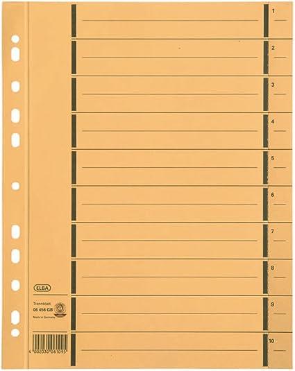 100x Elba Trennblätter Registerblätter perforiert A4 überbreit blau bedruckt