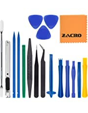 Zacro 18 in 1 Professional Opening Pry Tool Repair Kit with Non-Abrasive Nylon Spudgers and Pack of 2 Anti-Static Tweezers