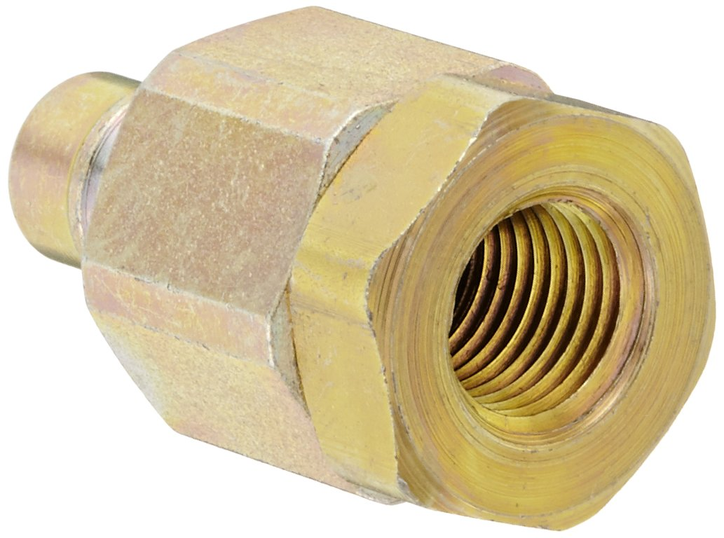 Snap-Tite VHN4-4F Zinc-Plated Steel H-Shape Quick-Disconnect Hose Coupling, Nipple, 1/4'' NPTF Female x 1/4'' Coupling Size