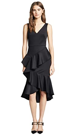 865a589f Marchesa Notte Women's Sleeveless Stretch Cocktail Dress, Black, 4 ...