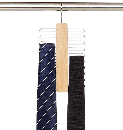 AmazonBasics - Colgador de 20 barras para corbatas y ...