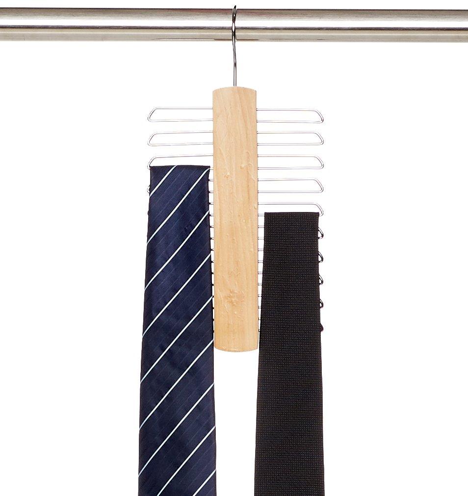 AmazonBasics - Colgador de 20 barras para corbatas y cinturones product image