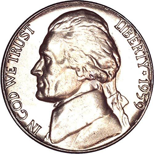 1959 Jefferson Nickel 5C Brilliant Uncirculated (Jefferson Ngc Mint Nickel)