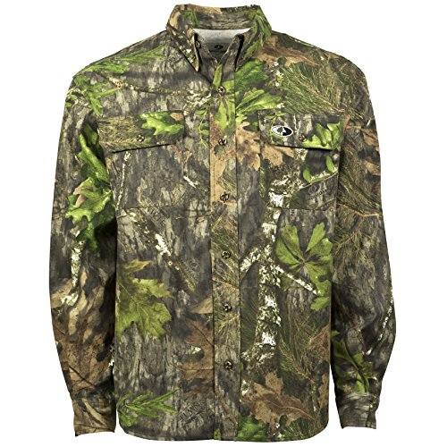 Mossy Oak Hunting Clothes - Mossy Oak Camouflage Cotton Mill Hunt Shirt, Obsession, X-Large