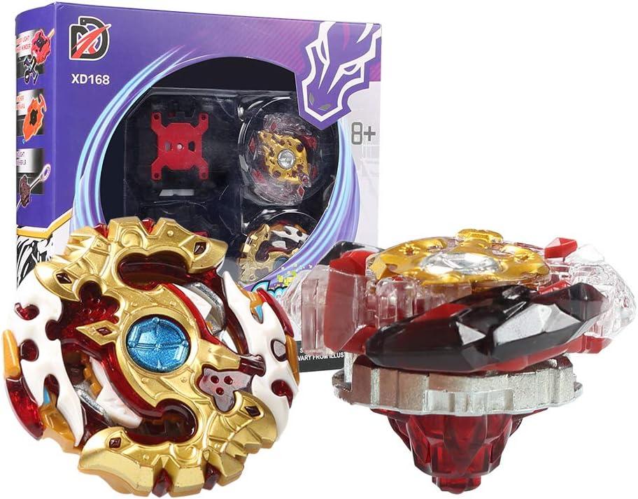 Innoo Tech Burst Peonzas 2 Pcs Gyro Spinning Fusión 4D Conjuntos de Metal, Launcher con Estadio, Regalo para niños