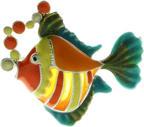 Go fish Pin brooch