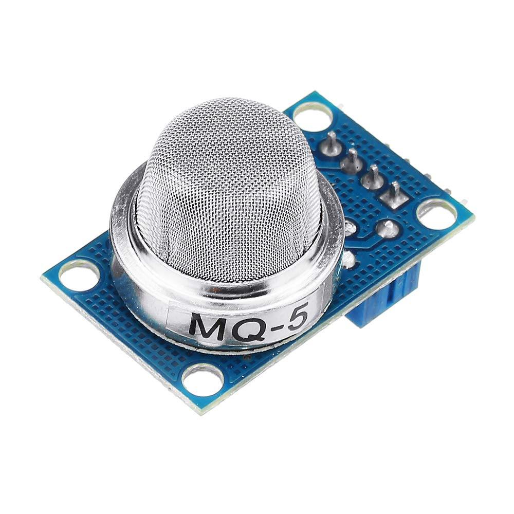 RISHIL WORLD 10pcs MQ-5 Liquefied Gas/Methane/Coal Gas/LPG Gas Sensor Module Shield Liquefied Electronic