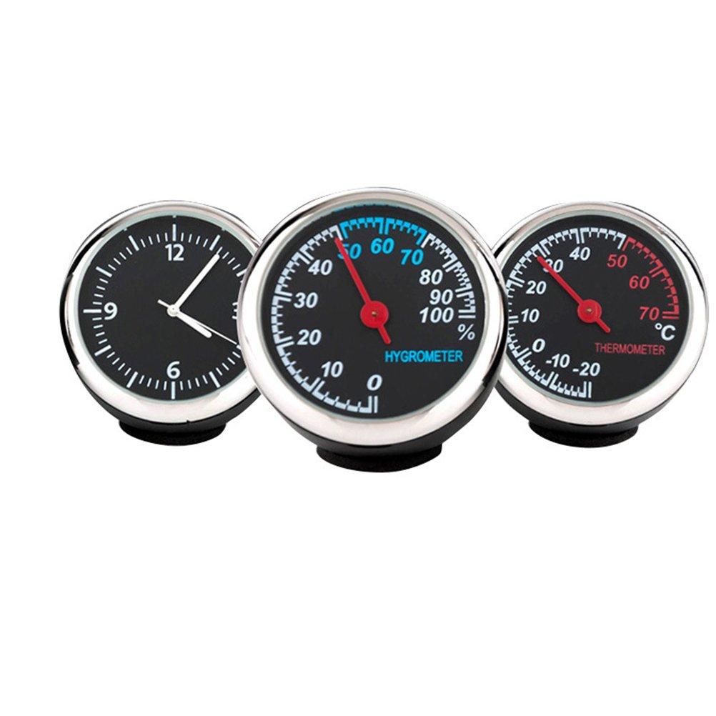 WINOMO Auto elektronische Uhr leuchtende mechanische Uhr Stahlkern Zeiger (Uhr und Hygrometer und Thermometer) U80SC05S5142H6BD323W5FC4