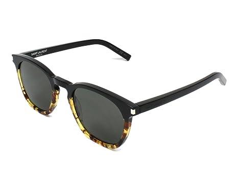 Saint Laurent Unisex-Erwachsene Sonnenbrille SL 28 003, Braun (Avana/Green), 49