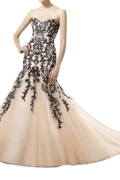 Toskana novia sirena forma de corazón con punta Vestidos de novia largo tuell Princesa Boda Vestidos