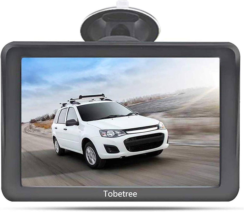 Tobetree 7 Pulgadas GPS para Coche y Camiones con Bluetooth, Pantalla táctil de Alta resolución de Navegador, actualización de mapas de Europa de por ...