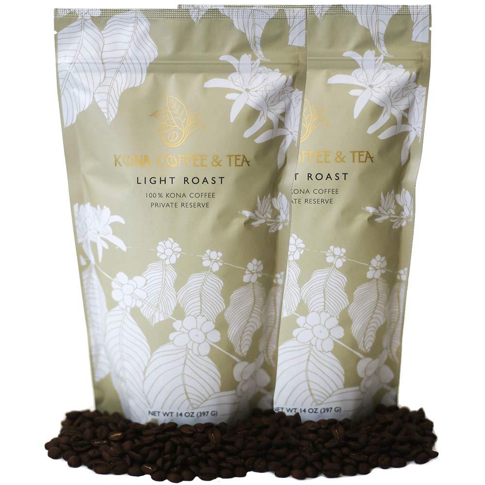 Light Roast (2-14oz Bags) - 100% Kona Coffee : FIRST PLACE WINNER 2018 Kona Coffee Cultural Festival's Crown Division • Single Estate • 2-Day FedEx