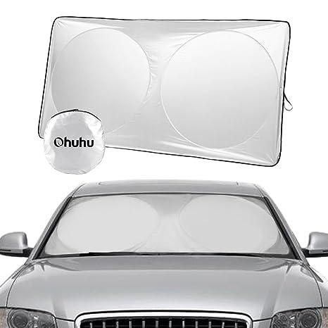 Eruditter Sonnenschutz Scheibenabdeckung Universal Verdickte Aluminiumfolie Auto Windschutzscheibe Auto-SUV Off-Road-Sonnenblende 14075cm