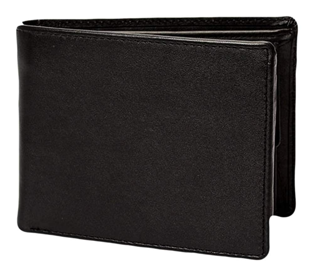 Dents Mens RFID Blocking Protection Smooth Leather Trifold Wallet Black